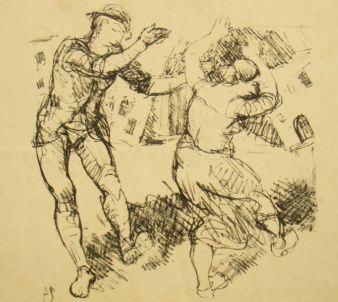 Adolph Schinnerer; pencil signed; The Dancers